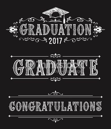 Happy graduation day congratulations in victorian style design of congratulations in victorian style design of greeting cards in vintage style m4hsunfo