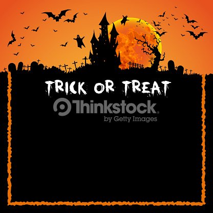 happy halloween card template mix of various spooky creatures vector