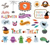 Halloween design elements.