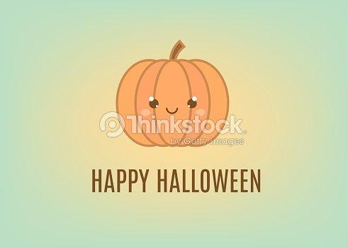 Happy halloween greeting card design template holiday banner with happy halloween greeting card design template holiday banner with cute pumpkin in kawaii style m4hsunfo