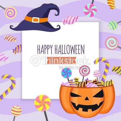 Feliz Halloween Invitación Tarjeta Fiesta Plantilla De Diseño Marco ...