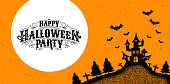 Happy Halloween Party , calligraphy, Logo ,Ghost , Scary ,spooky  template Vector illustration.