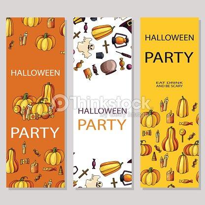 Diseño De Cartel De Happy Halloween Plantilla De Vectores Con ...