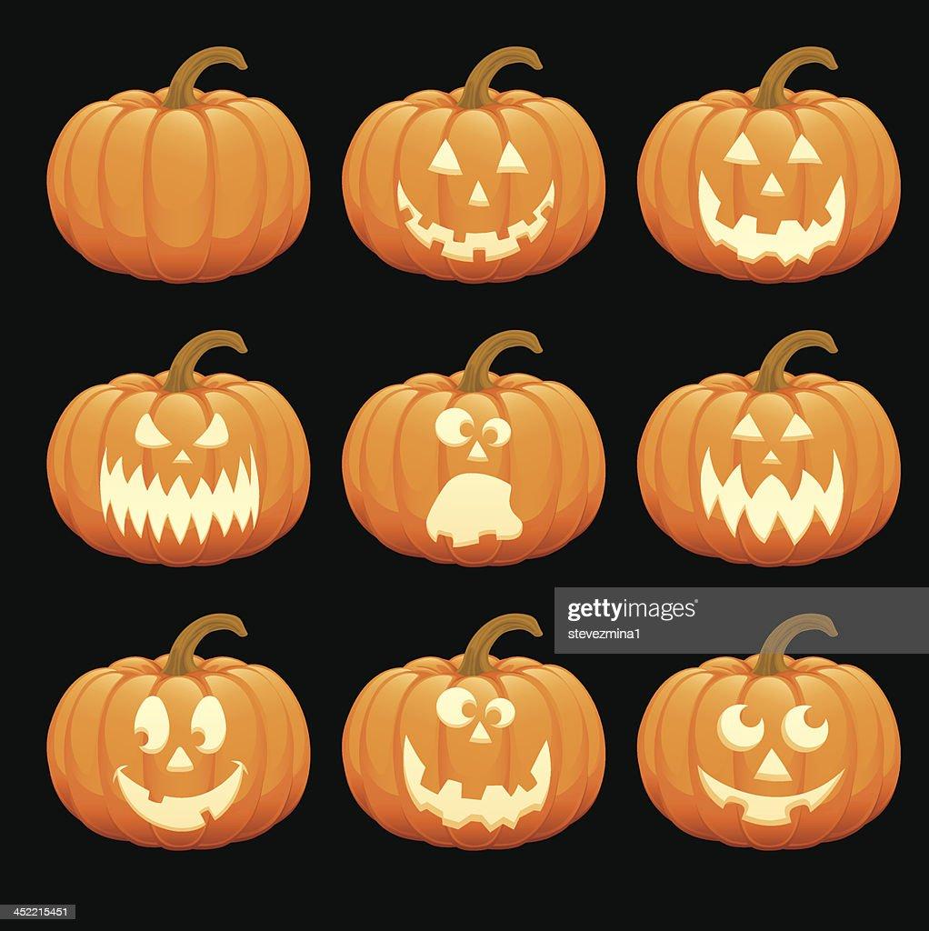 happy halloween pumpkin jack o lantern vector illustration