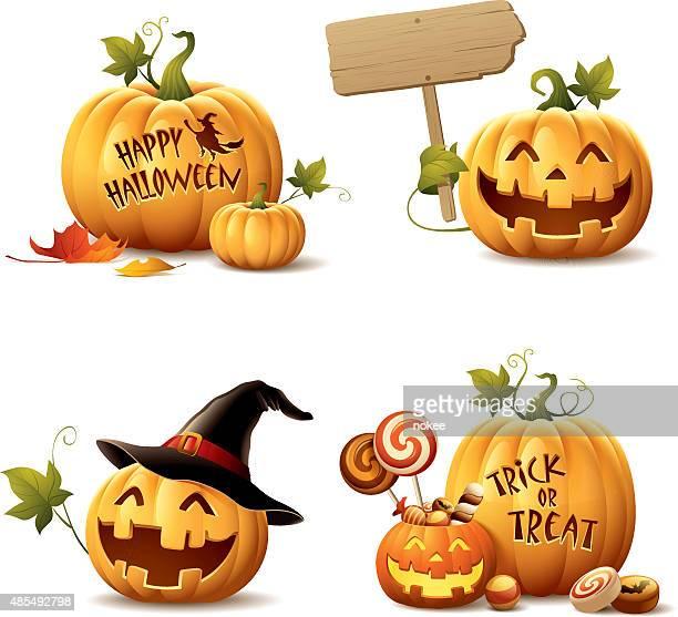 Happy Halloween Pumpkin Set
