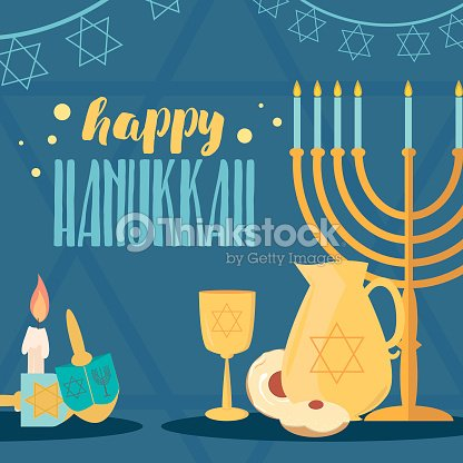 Happy hanukkah greeting card design vector art thinkstock happy hanukkah greeting card design vector art m4hsunfo
