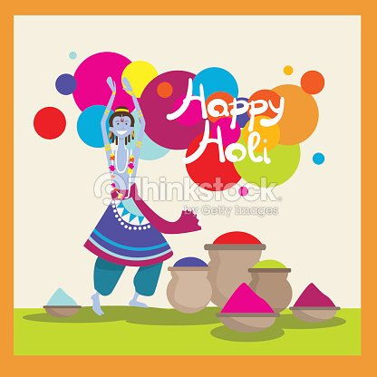 Happy holi religious india holiday traditional celebration greeting happy holi religious india holiday traditional celebration greeting cart vector art m4hsunfo