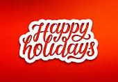 Happy Holidays modern typography