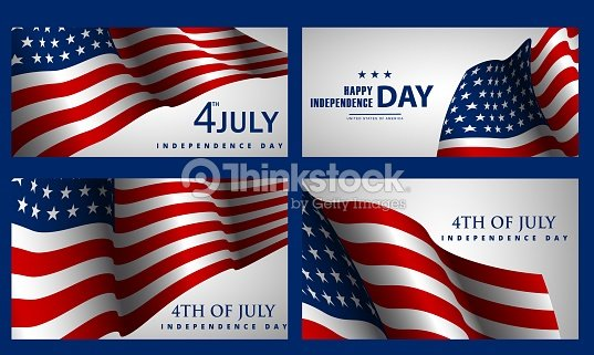 Happy Independence Banners Wild Flower Banners