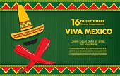 Greeting card of a traditional Mexican holiday