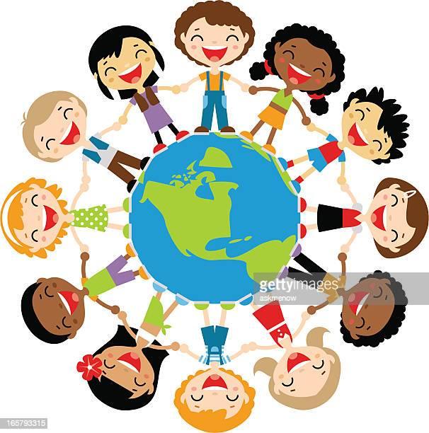 Heureux pour enfants dans le monde entier