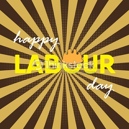 Happy labour day greeting card poster vector vector art thinkstock happy labour day greeting card poster vector vector art m4hsunfo