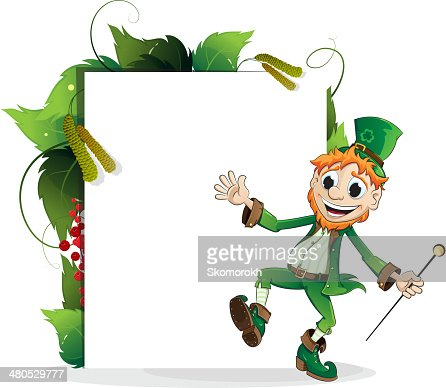Happy Leprechaun : Vector Art