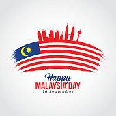 Happy Malaysia Day Vector Illustration