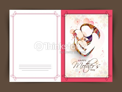 Happy Mothers Day Celebration Greeting Or Invitation Card Vector – Mothers Day Invitation Cards
