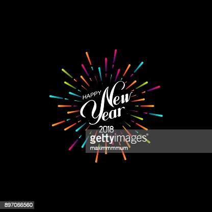 Happy New 2018 Year. : stock vector