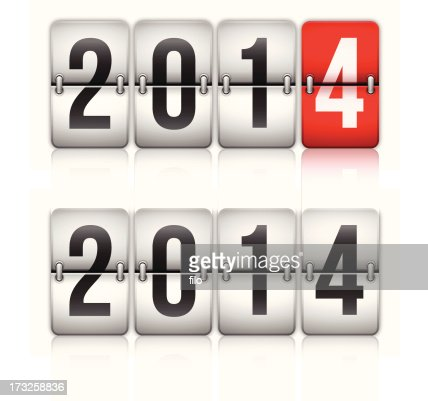 Happy New Year 2014 : Vector Art