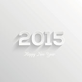 Happy new year 2015 creative greeting card design. Typographical Vector Background. Easy paste to any background for your design.