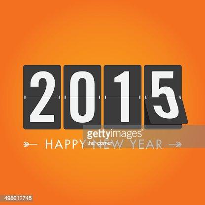 Feliz Año Nuevo 2015 : Arte vectorial