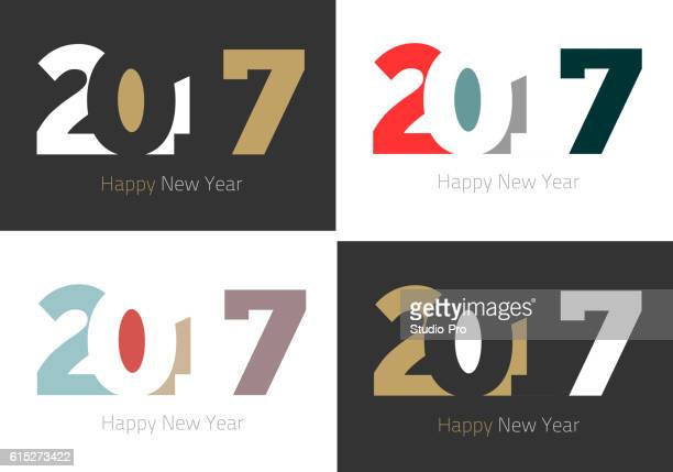 Happy New Year 2017 design collection