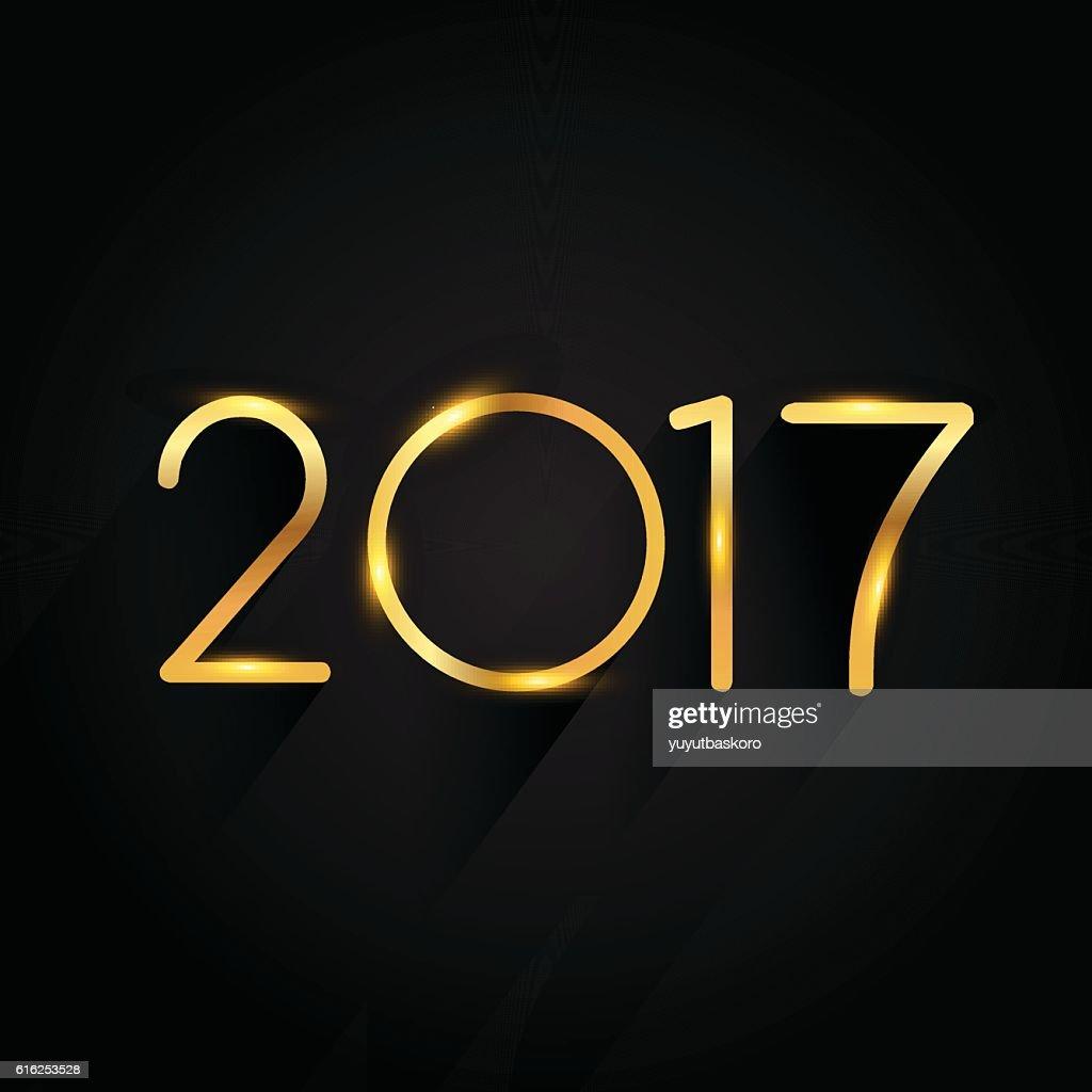 Feliz Año Nuevo 2017 : Arte vectorial