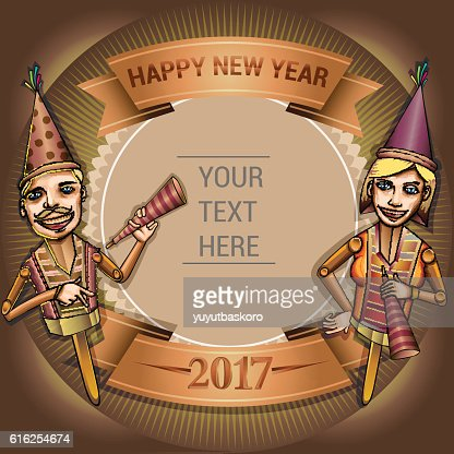 happy new year 2017 : Vector Art