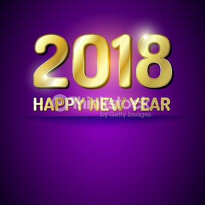 Frohes Neues Jahr 2018 Grüße Karte Vektorgrafik | Thinkstock