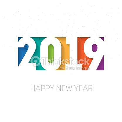 Happy New Year 2019 Greeting Card Or Calendar Cover Design Template ...