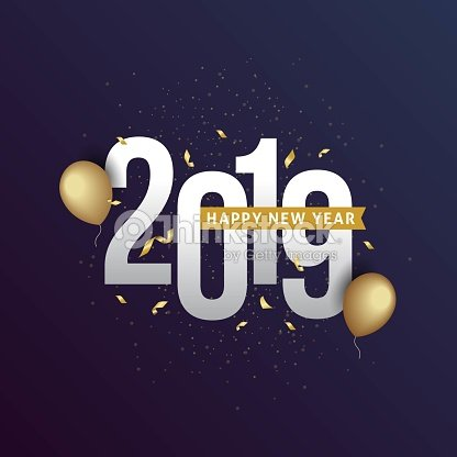 Happy New Year 2019 : stock vector