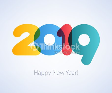 2019 happy new year background seasonal greeting card template vector art