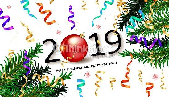 2019 happy new year background vector art