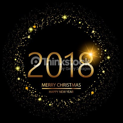 happy new year background with glowing lights text on black background vector vector