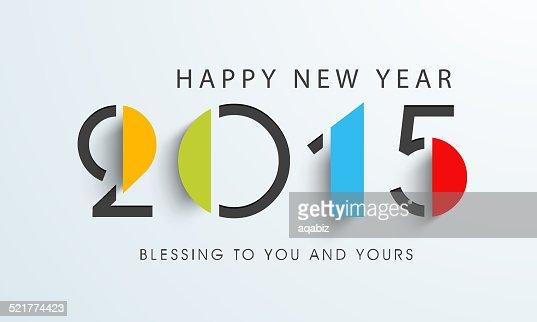 Feliz Año Nuevo diseño elegante celebración con texto. : Arte vectorial