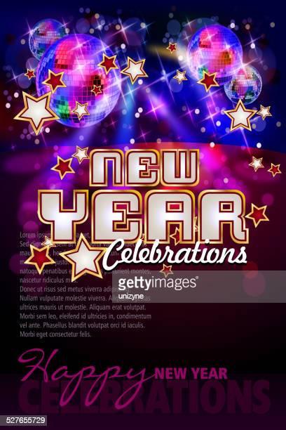 Frohes neues Jahr-Feierlichkeiten Hintergrund