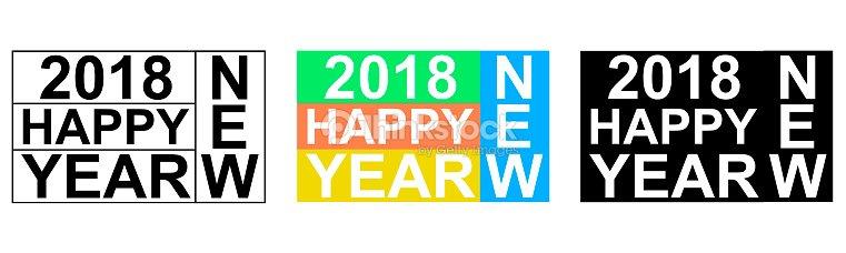 2018 Frohes Neues Jahr Gruß Banner Wörter Aus Buchstaben Scrabble ...