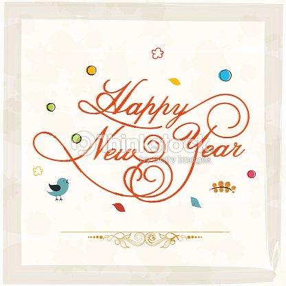 Happy New Year Poster Vector Art | Thinkstock