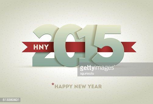 2015 Happy New Year : Vector Art