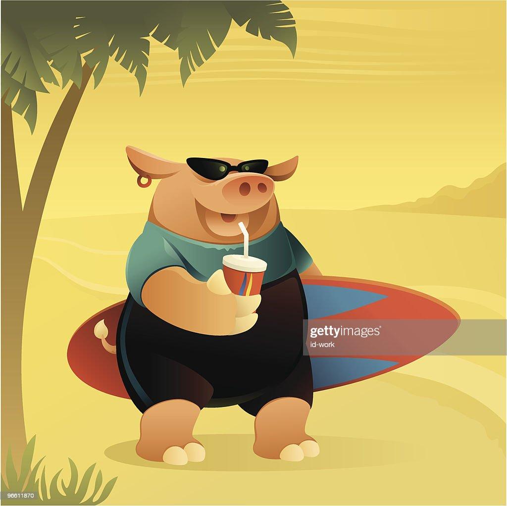 happy pig : Vector Art