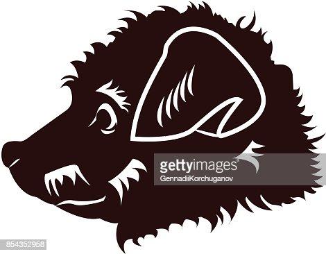 Happy Puppy Abstract Dog Logo Design Vector Art Thinkstock