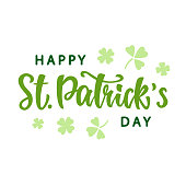 Happy Saint Patrick's Day greeting poster. Vector Illustration