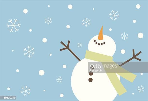 Heureux Bonhomme de neige