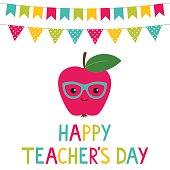 Happy Teacher's Day vector card