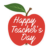 Happy Teachers Day. Greeting card. Vector illustration