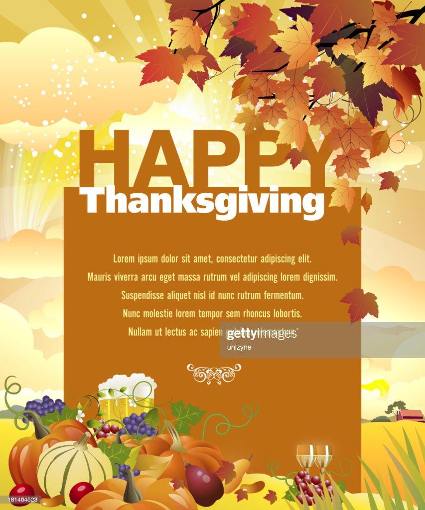 Happy Thanksgiving Background : Vector Art