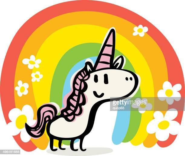 Happy Unicorn Doodle