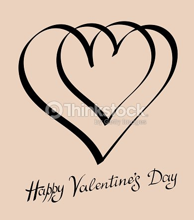 Happy Valentines Day Vintage Hand Drawing Vector Art Thinkstock