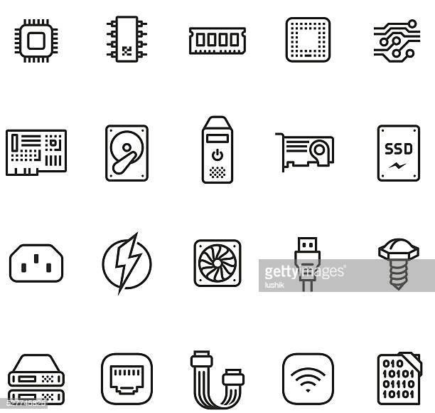 Hardware icon set - Unico PRO 2pt stroke