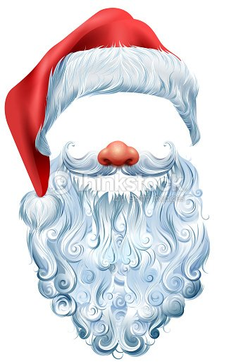 5b31ef46ce3 Hat Beard And Red Nose Mask Santa Claus Christmas Accessory stock ...