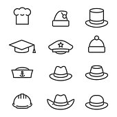 Hats icons set