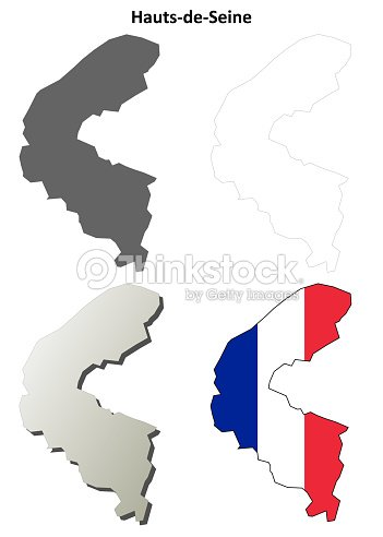 Map France 945.Hautsdeseine Iledefrance Outline Map Set Vector Art Thinkstock